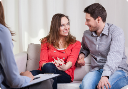 counselor counselling the couple